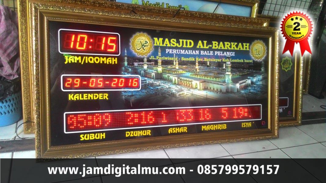 Jam Masjid Digital Termurah 02 RT Tambah Running Text Tambah Bagus