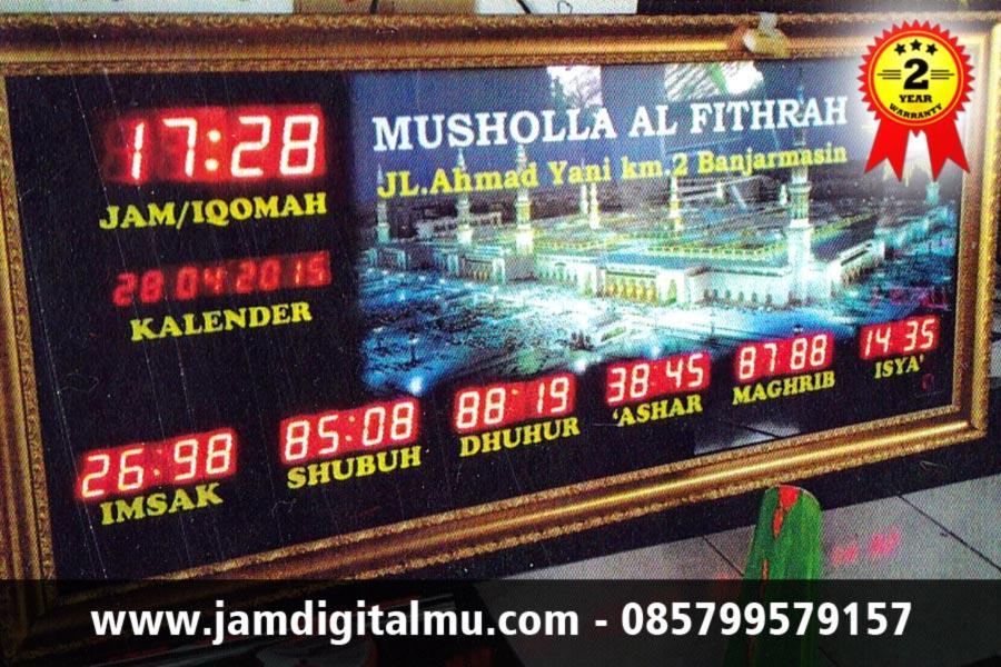 Jam Digital Masjid Pigura Emas