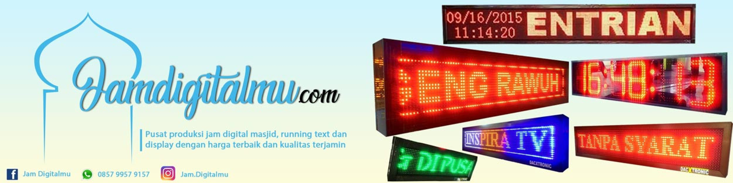 Jam Digital Iqomah Led3 Daftar Harga Terendah Indonesia Led Runningtext 68x20 Masjid Running Text Mesjid Red Color Murah